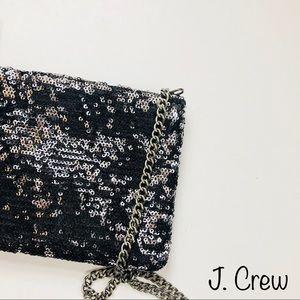 🆕👛 J. Crew Sequin Mini Bag Crossbody Black Purse